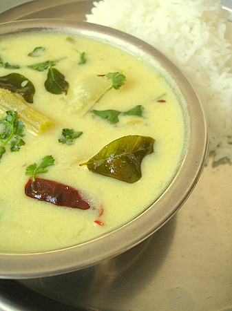 Majjiga Charu - vegetables cooked in spiced buttermilk