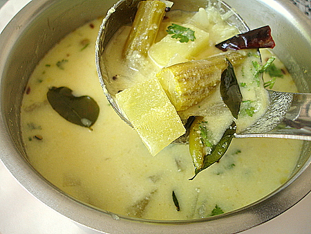 Majjiga Pulusu - vegetables cooked in buttermilk